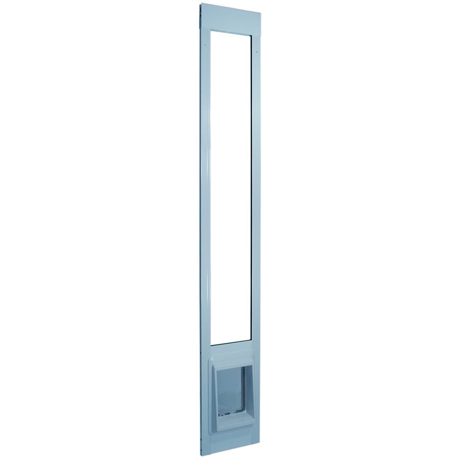 shop small white aluminum sliding pet door actual