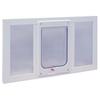 Ideal Pet Products Vinyl Sash Window Medium White Vinyl Window Pet Door (Actual: 10.5-in x 7.5-in)
