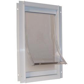 X-Large White Aluminum Pet Door (Actual: 20-in x 15-in)