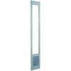 Ideal Pet Products Aluminum Pet Patio with Custom Rise X-Large White Aluminum Sliding Door Pet Door (Actual: 15-in x 10.5-in)