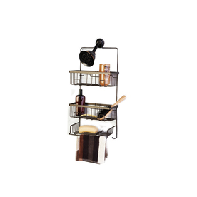Oil Rubbed Bronze Steel Bathtub Caddy