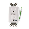 GE 120-Volt 15-Amp Iris White Decorator Duplex Electrical Outlet (Works with Iris)