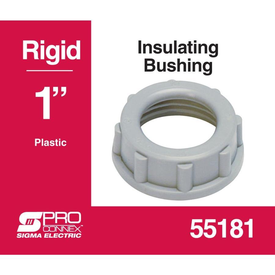 1-Pack Sigma Electric ProConnex 49325 Rigid Plastic Insulating Bushing 1-1//2-Inch