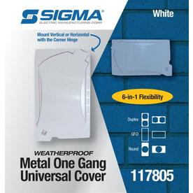 White Sigma Electric 14147WH 1-Gang Universal Cover