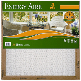 Energy Aire 3-Pack 23-1/2-in x 23-1/2-in x 1-in Pleated Air Filters