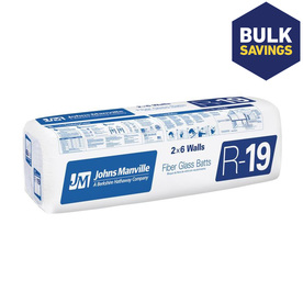 Johns Manville ComfortTherm R19 23-in x 7-ft 9-in Faced Fiberglass Batt Insulation with Sound Barrier