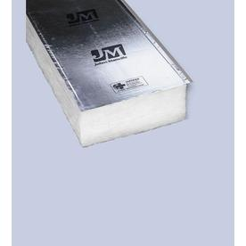 Shop johns manville r19 16 in x 8 ft faced fiberglass batt for Sound fiberglass insulation