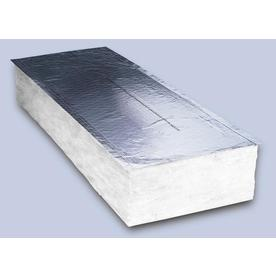 Shop johns manville r19 24 in x 8 ft faced fiberglass batt for Sound fiberglass insulation