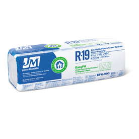 Johns Manville EasyFit R19 15-in x 7-ft 9-in Faced Fiberglass Batt Insulation with Sound Barrier