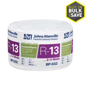 Johns Manville ComfortTherm R13 15-in x 32-ft Fiberglass Roll Insulation with Sound Barrier