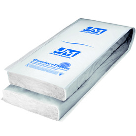 Shop johns manville comforttherm r30 24 in x 48 in faced for Sound fiberglass insulation