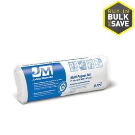 Johns Manville R 0 16-in x 4-ft Unfaced Fiberglass Roll Insulation with Sound Barrier