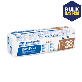 Johns Manville EasyFit R38 16-in x 48-in Faced Fiberglass Batt Insulation with Sound Barrier