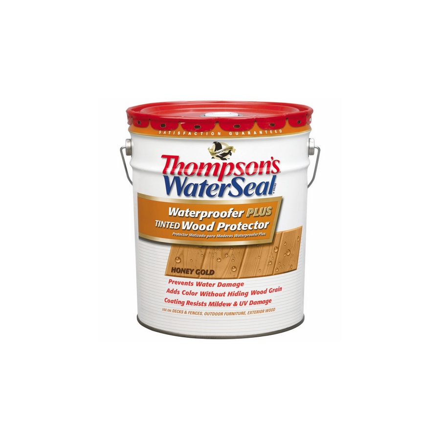 Shop Thompson's WaterSeal 5-Gallon Sheer Honey Gold Waterproofer Plus Tinted Wood Protector at ...