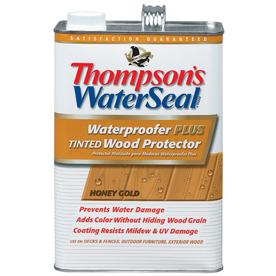 Thompson's WaterSeal ThompsonS Waterseal Waterproofer Plus Tinted Wood Protector- Sheer Honey Gold- Low Voc- 1 Gal