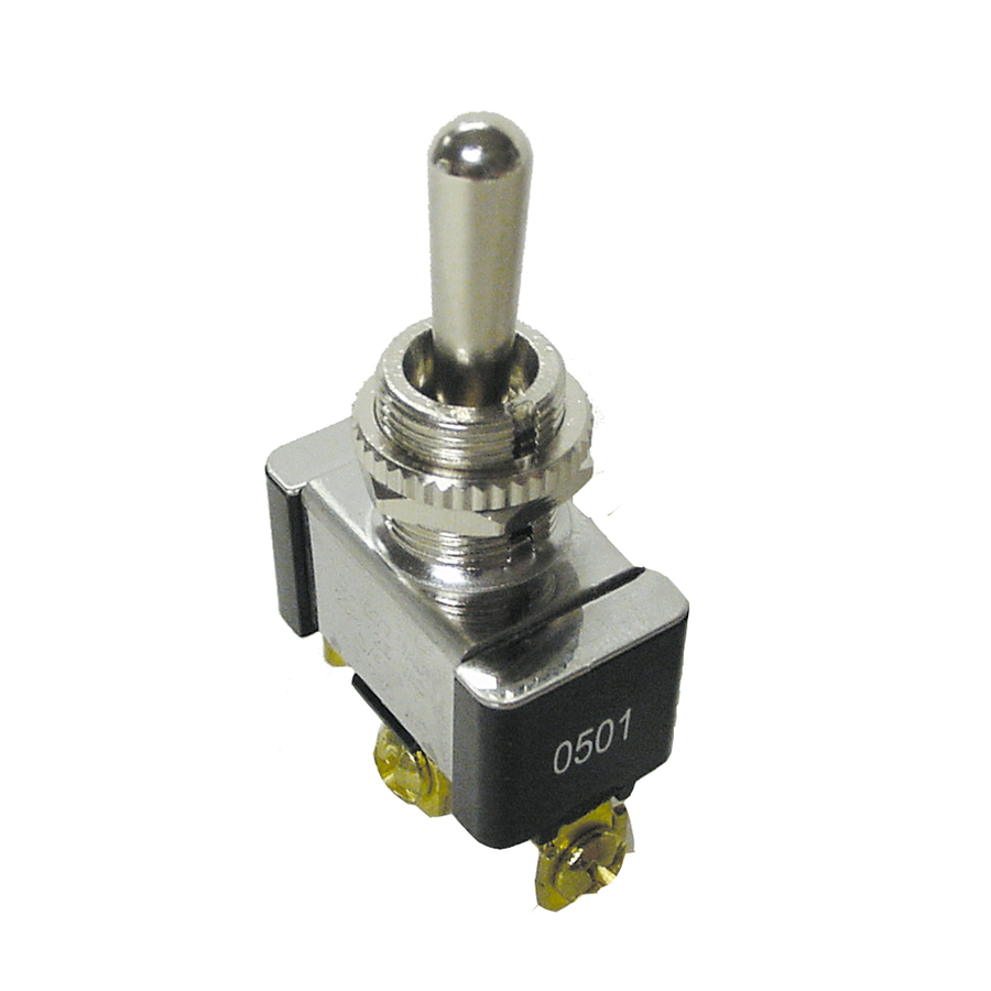 Gardner Bender 20 Amp Black/Silver Single Pole Light Switch