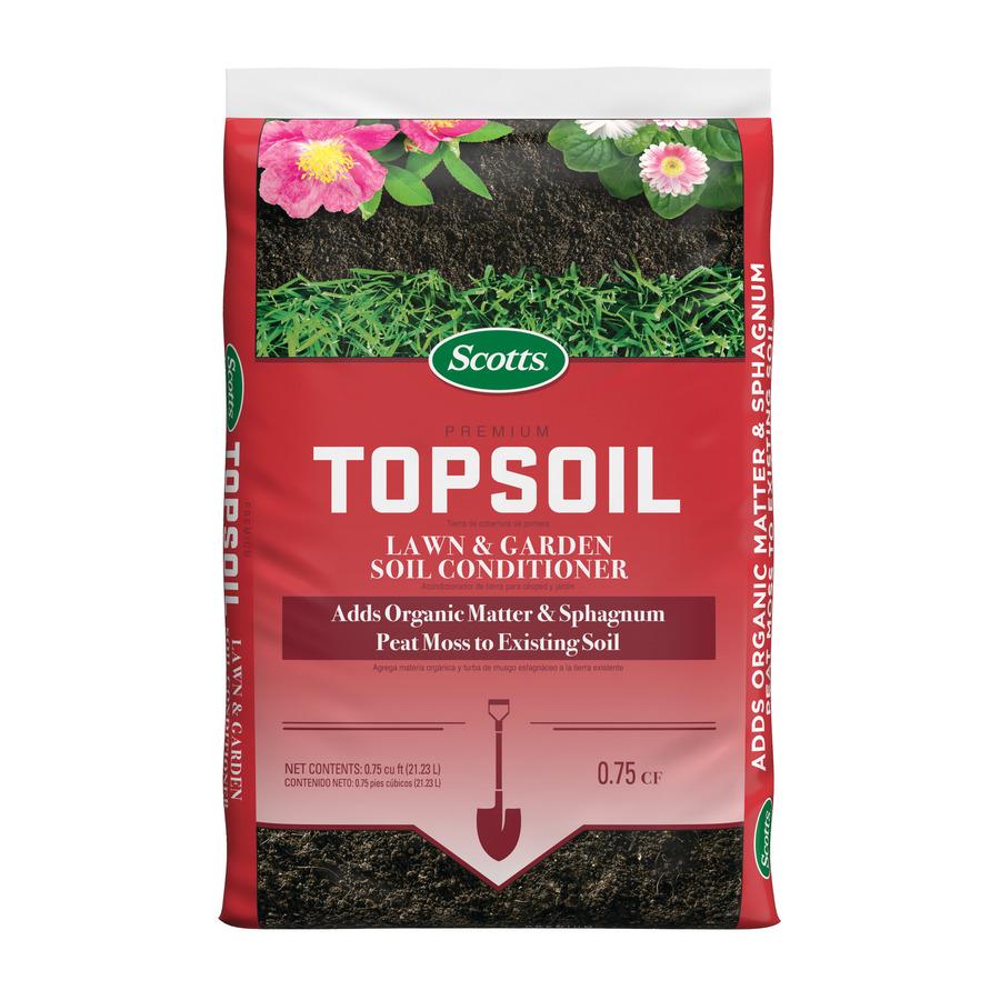 Shop scotts ft top soil at for Topsoil garden soil