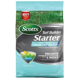 Scotts 5,000-sq ft Starter Plus Weed Preventer Weed Control Lawn Fertilizer (21-22-4)