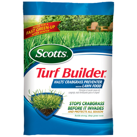 Scotts 5,000-sq ft Turf Builder with Halts Crabgrass Preventer Lawn Fertilizer (30-0-4)