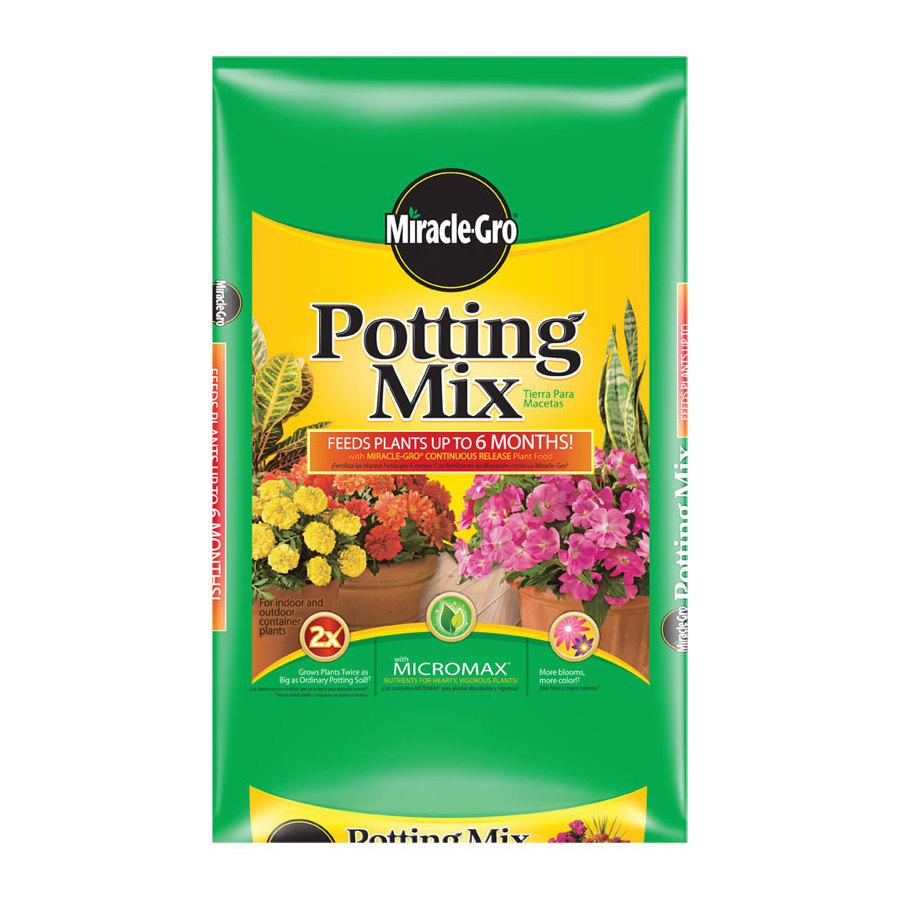 Shop miracle gro 64 quart potting soil at for Potting soil versus garden soil