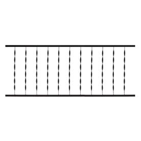 Gilpin Windsor 72-in x 28-in Black Steel Porch Railing