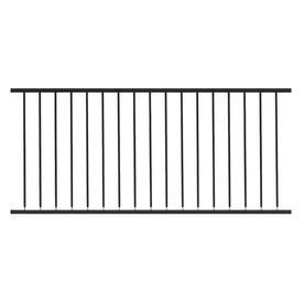 Gilpin Hampton 72-in x 32-in Black Steel Porch Railing