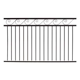 Gilpin Oasis Black Metal Steel (Not Wood) Decorative Metal Fence Panel (Common: 6-ft x 4-ft; Actual: 6-ft X