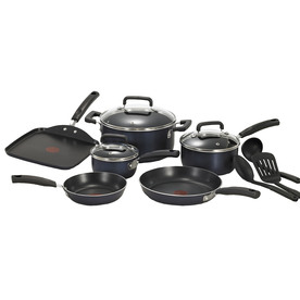 T-fal 12-Piece Signature Aluminum Cookware Set with Lids C109SC74