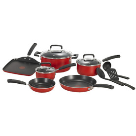 T-fal 12-Piece Signature Aluminum Cookware Set with Lids C112SC74