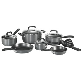 T-fal 12-Piece Signature Aluminum Cookware Set with Lids D913SC64