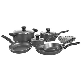 T-fal 10-Piece Initiatives Aluminum Cookware Set with Lids A821SA94