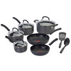 T-fal 12-Piece Ultimate Hard Anodized Aluminum Cookware Set with Lids