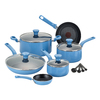 T-fal 14-Piece Excite 9-in Aluminum Cookware Set with Lid