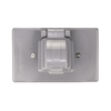 Cooper Wiring Devices Non-Metallic Gray 1-Outlet Weatherproof Electrical Outlet Cover