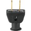 Cooper Wiring Devices 15-Amp 125-Volt Black 2-Wire Plug