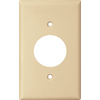 Cooper Wiring Devices 1-Gang Ivory Single Round Wall Plate