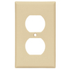 Cooper Wiring Devices 1-Gang Ivory Standard Duplex Receptacle Nylon Wall Plate
