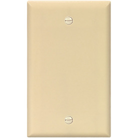 Cooper Wiring Devices 1-Gang Ivory Blank Plastic Wall Plate 2129V-SP-L