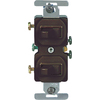 Cooper Wiring Devices 15-Amp Brown Combination Special Use Light Switch