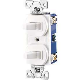 Cooper Wiring Devices on Switches Cooper Wiring Devices 15 Amp White Combination Light Switch