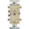 Cooper Wiring Devices 15-Amp Ivory Combination Special Use Light Switch