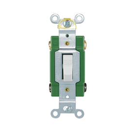 Cooper Wiring Devices 30-Amp Ivory Double Pole Light Switch