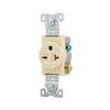 Eaton 20-Amp 250-Volt Ivory Indoor Round Wall Outlet