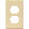 Cooper Wiring Devices 1-Gang Ivory Standard Duplex Receptacle Plastic Wall Plate