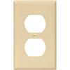 Eaton 1-Gang Ivory Single Duplex Wall Plate