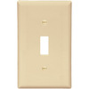 Cooper Wiring Devices 1-Gang Ivory Standard Toggle Plastic Wall Plate