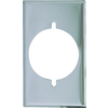Cooper Wiring Devices 1-Gang Chrome Standard Single Receptacle Metal Wall Plate