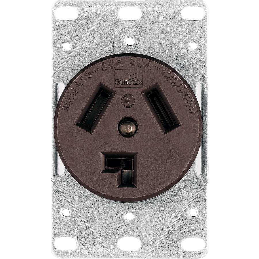 shop cooper wiring devices 30 amp flush mount appliance