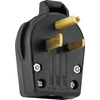 Cooper Wiring Devices 50-Amp 125-Volt Black 3-Wire Grounding Connector