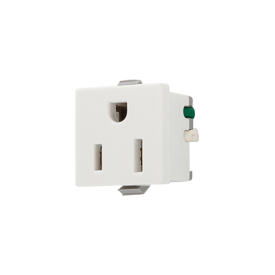 shop cooper wiring devices 15 amp white single electrical outlet at lowes